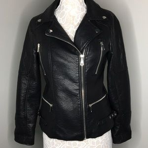Forever 21 Faux Leather Jacket L
